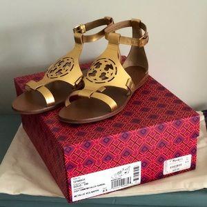 Tory Burch Metallic Sandals